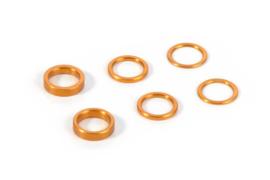 Aluminum Shim Set 0,5mm/ 1,0mm/ 2,0mm - Orange (XR-375090-O)