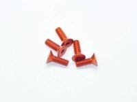 AM-14CS4012-O Alu Screw allen countersunk M4x12 Orange (7075) (5)