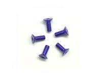AM-14CS3008-P Alu Screw allen countersunk M3x8 Purple (7075) (5)