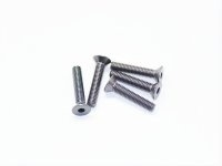 AM-14CS3016-G Alu Screw allen countersunk M3x16 Silver (7075) (5)