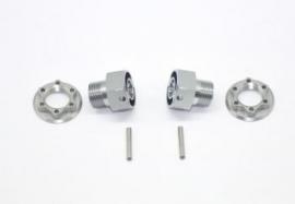 Wheelhexagon light +2mm /nut/pin (2) (#600493)