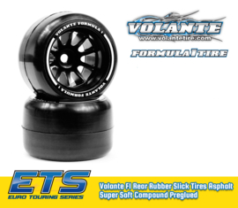 Volante F1 Rear Rubber Slick Tires Asphalt Hyper Super Soft Compound Preglued   ) VT-VF1-HARSS)