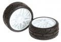Tyre GT 1/8 premount white medium (2) #215016