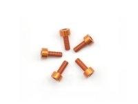 AM-14CH3008-O Alu Screw allen cilinder head M3x8 Orange (7075) (5)