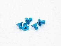AM-14CS3005-B Alu Screw allen countersunk M3x5 Blue (7075) (5)