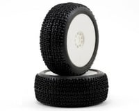 AKA Racing Cityblock 1/8 Buggy Tires (2) (Pre-Mounted) (White) (Medium)