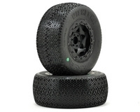 AKA Racing Wishbone Short Course Tires (Pre-Mounted) (Slash Front) (2) (Black) (Soft)