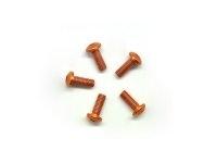 AM-14RH3008-O Alu Screw allen roundhead M3x8 Orange (7075) (5)