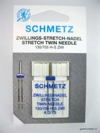 Schmetz stretch tweelingnaald  4mm.nr.75