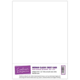 Neenah Classic Crest Card - A4 Solar White - 20 Vel