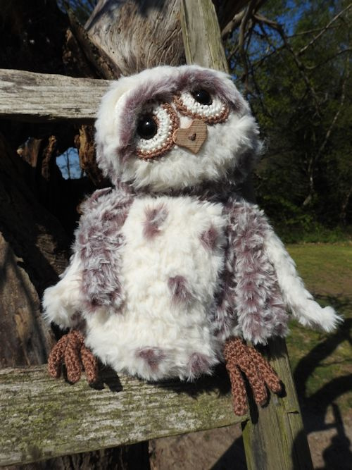 Haakpakket Funny Furry Owl Soft donkerbruin