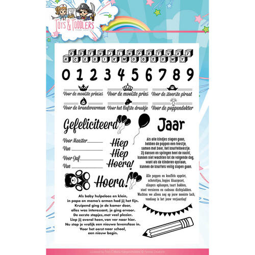 Clearstamp-Yvonne Creations- Tots and Toddler- Tekst