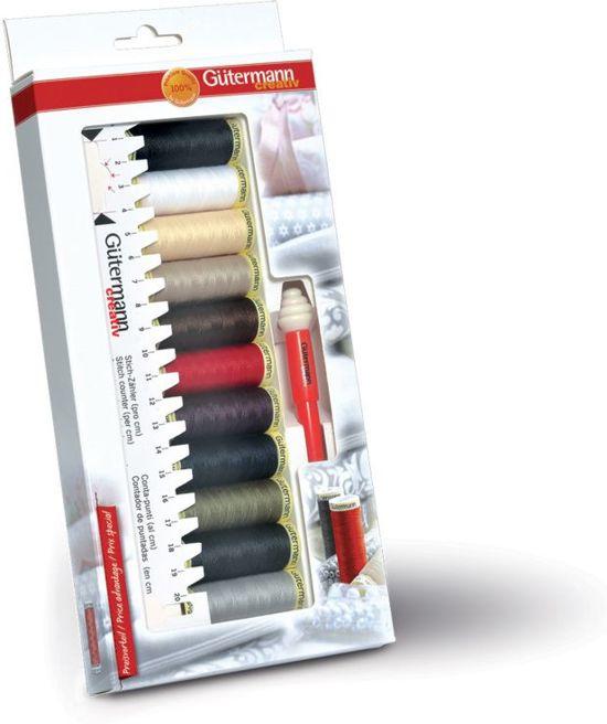Gutermann naaimachinegaren set met tornmesje en lineaal