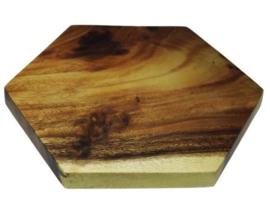 zeshoekige snijplank van acacia