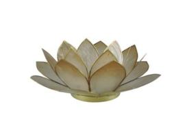 lotus waxinelicht groot nude