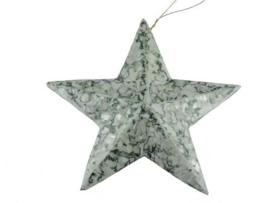kerstster in graniet groen groot