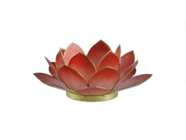Waxinelicht  lotus klein rood