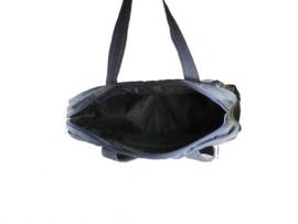 Handtas van denim en rubber
