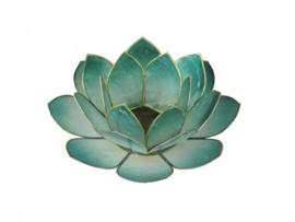 lotus waxinelicht groot petrol