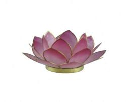 Waxinelicht lotus klein roze