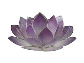 lotus waxinelicht groot in paars