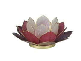 lotus waxinelicht klein mix paars