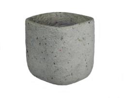 bloempot groot grijs