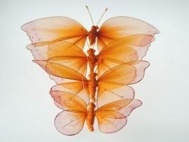 Vlinders van nylon in oranje