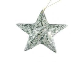 kerstster in graniet groen klein