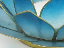 waxinelicht lotus klein blauw