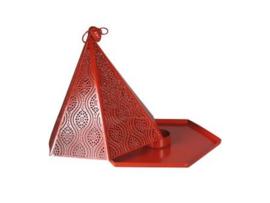 metalen waxinelicht rood