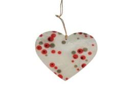 Hart met rood-grijze stippen