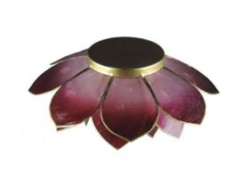 lotus waxinelicht groot in aubergine