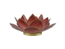 lotus waxinelicht groot donker rood