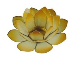 lotus waxinelicht groot in geel