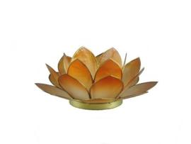 waxinelicht lotus klein oranje