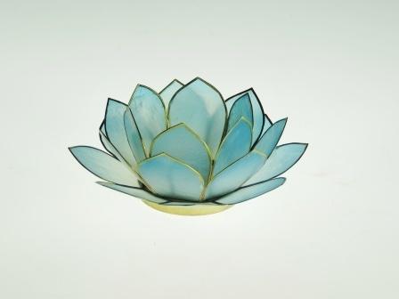 waxinelicht lotus klein licht blauw