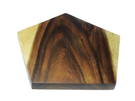 vijfhoekige snijplank van acacia