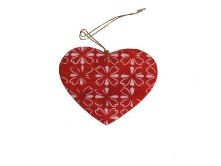 Hart met rood/witte print