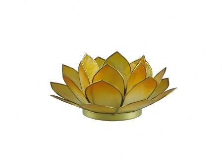 Waxinelicht lotus klein geel