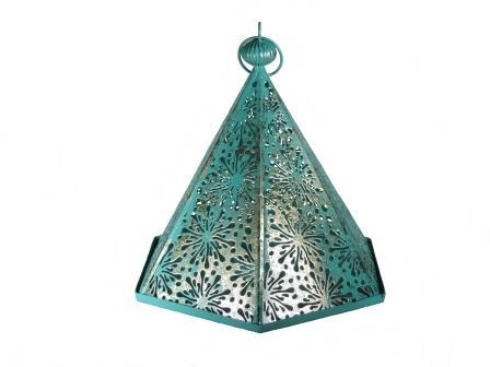 lamp 6 hoekig metaal groen