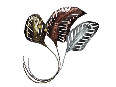 bladeren in goud, koper en zilverkleur