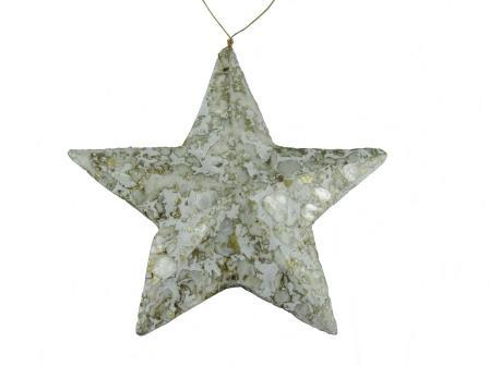 kerstster in graniet goud klein
