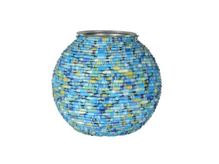Waxinelicht blauwe bol