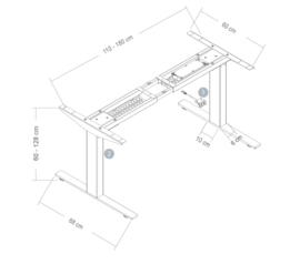 Elektrische zit-sta tafel EB serie