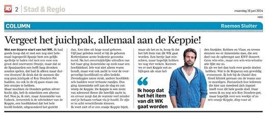 Algemeen Dagblad Raemon Sluiter