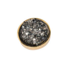 Top part drusy dark gray gold