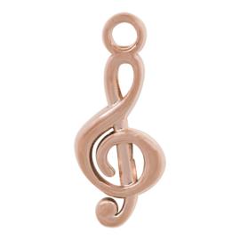 C42601-02 Charm Muzieksleutel Rose