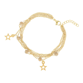 IJBA16-01 Armband Ball-Star Goud