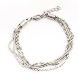 Armbandje Snake/Knot Silver